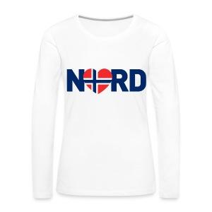 Nord og norsk - Premium langermet T-skjorte for kvinner