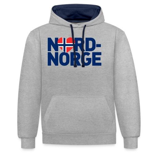 Elsker Nord-Norge - Kontrast-hettegenser