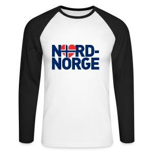 Elsker Nord-Norge - Langermet baseball-skjorte for menn