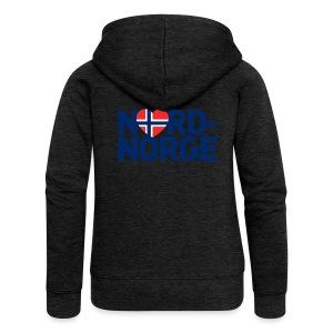 Elsker Nord-Norge - Premium hettejakke for kvinner
