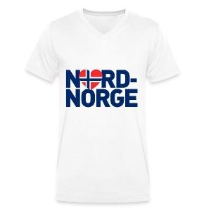 Elsker Nord-Norge - Økologisk T-skjorte med V-hals for menn fra Stanley & Stella