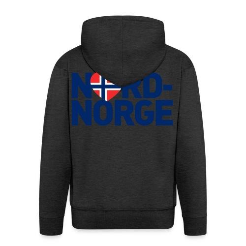 Elsker Nord-Norge - Premium Hettejakke for menn