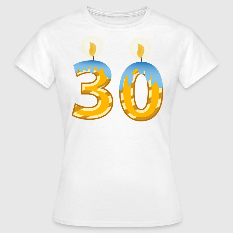 30th Birthday Candles - Women's T-Shirt