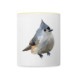 Polygon Art: Tufted Titmouse T-Shirts - Tasse zweifarbig