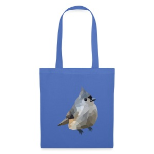 Polygon Art: Tufted Titmouse T-Shirts - Stoffbeutel