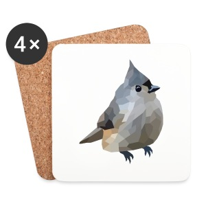 Polygon Art: Tufted Titmouse T-Shirts - Untersetzer (4er-Set)