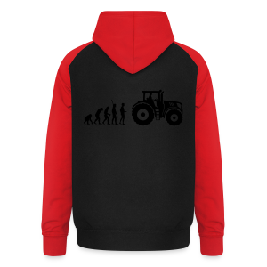 Evolution Traktor Shirt - Unisex Baseball Hoodie