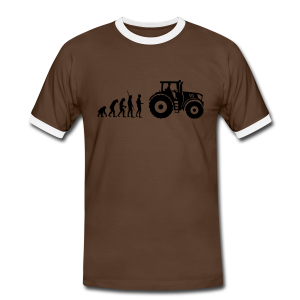 Evolution Traktor Shirt - Männer Kontrast-T-Shirt