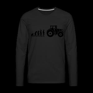 Evolution Traktor Shirt - Männer Premium Langarmshirt