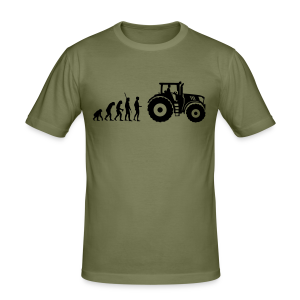 Evolution Traktor Shirt - Männer Slim Fit T-Shirt