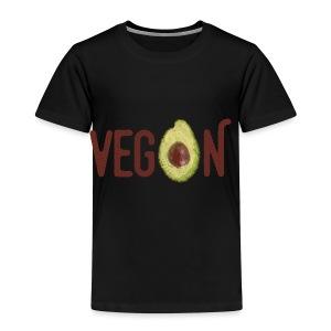 Trendy Vegan Avocado Grunge Style Text - Kinder Premium T-Shirt