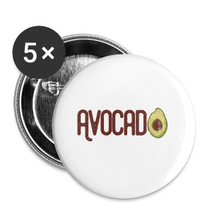 Trendy Yummy Avocado Grunge Style Text - Buttons klein 25 mm