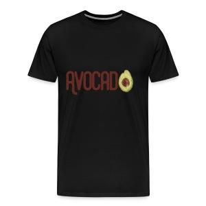 Trendy Yummy Avocado Grunge Style Text - Männer Premium T-Shirt