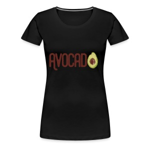 Trendy Yummy Avocado Grunge Style Text - Frauen Premium T-Shirt
