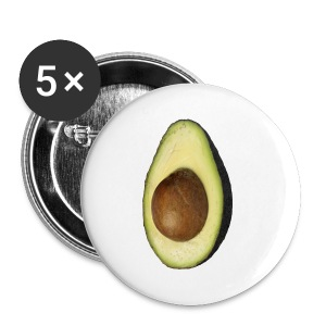 Real Photo Trendy AVOCADO vertikal - Buttons klein 25 mm