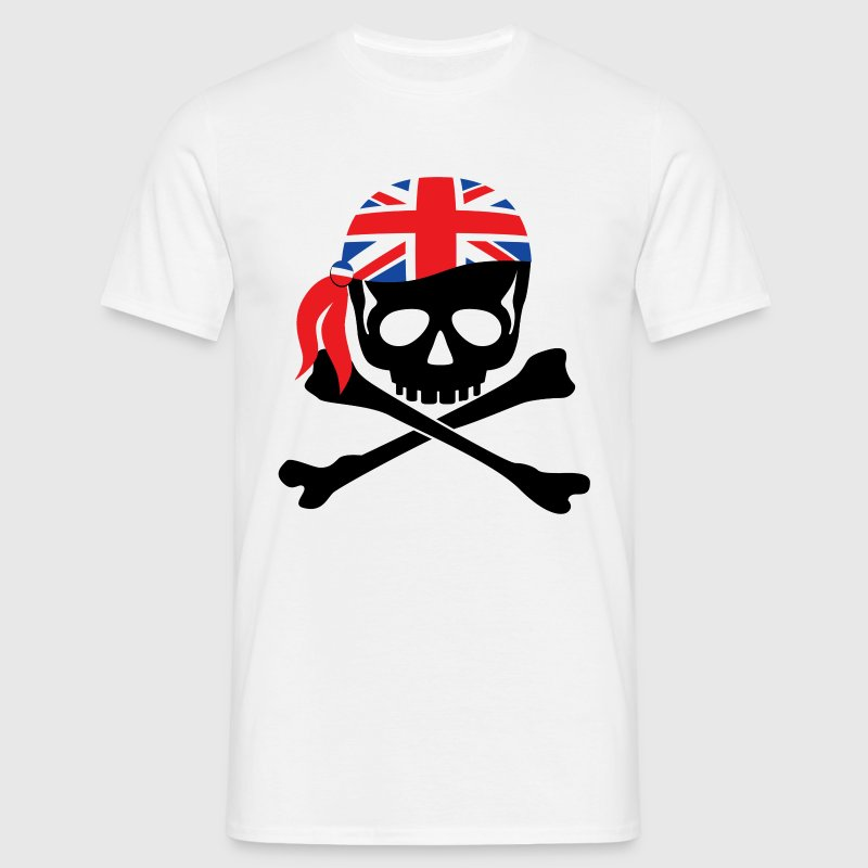 White British Flag Bandana Pirate Men's T-Shirts - Men's T-Shirt