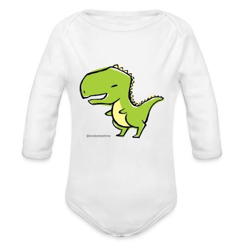Dino_B - Organic Longsleeve Baby Bodysuit
