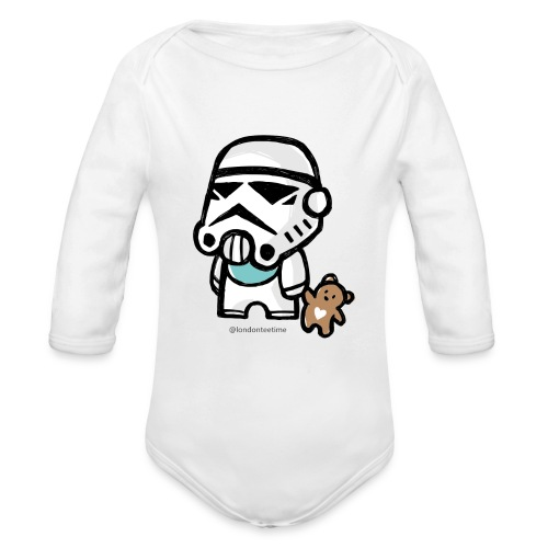 Stormtrooper_B/ blue - Organic Longsleeve Baby Bodysuit