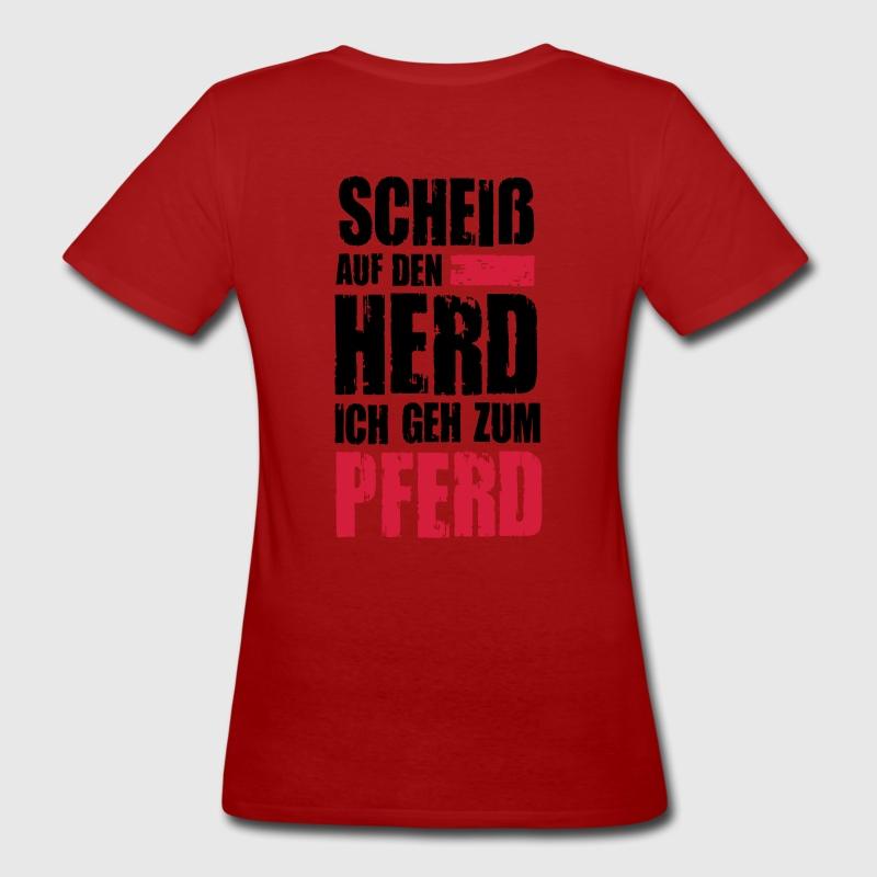 Ich geh zum Pferd T-Shirts - Frauen Bio-T-Shirt