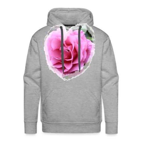Rose-pink-Herz - Männer Premium Hoodie