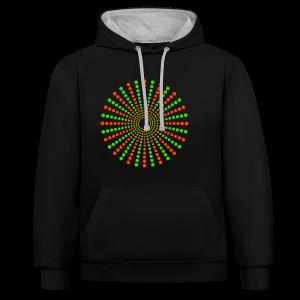 Hippikreisstern Shirt - Kontrast-Hoodie