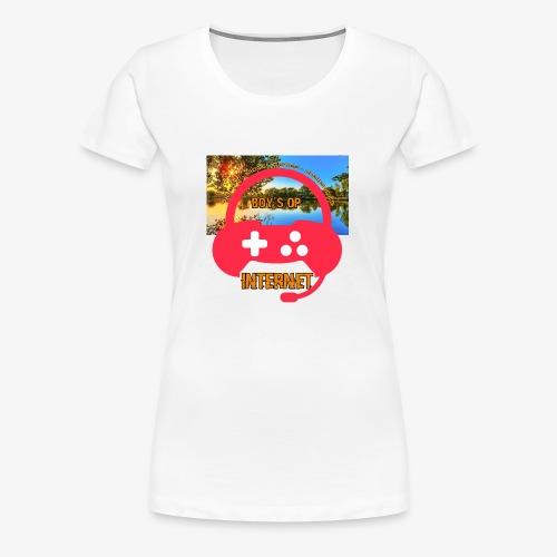 Boys op internet Muismat - Vrouwen Premium T-shirt
