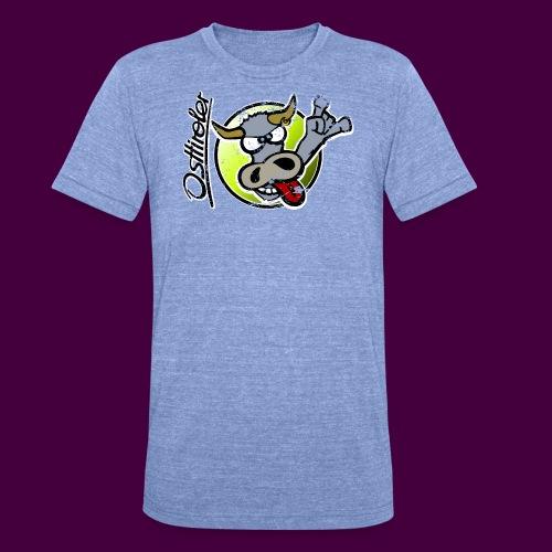 Osttiroler Grauvieh Logo Shirt - Unisex Tri-Blend T-Shirt von Bella + Canvas