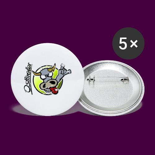 Osttiroler Grauvieh Logo Shirt - Buttons groß 56 mm (5er Pack)