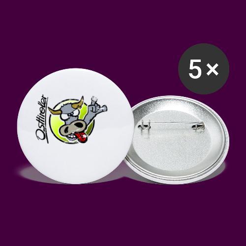 Osttiroler Grauvieh Logo Shirt - Buttons klein 25 mm (5er Pack)