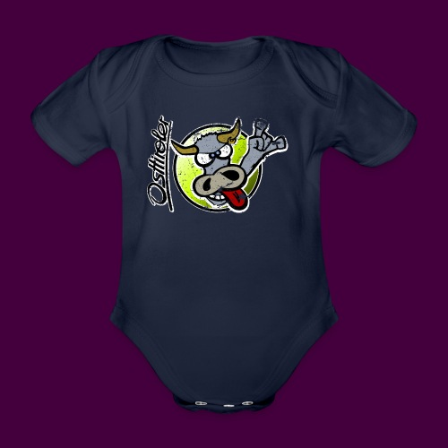 Osttiroler Grauvieh Logo Shirt - Baby Bio-Kurzarm-Body