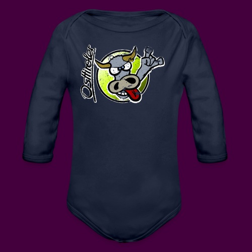 Osttiroler Grauvieh Logo Shirt - Baby Bio-Langarm-Body