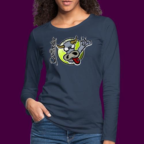 Osttiroler Grauvieh Logo Shirt - Frauen Premium Langarmshirt