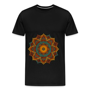 Handpan - Hang Drum Mandala teal red - Männer Premium T-Shirt