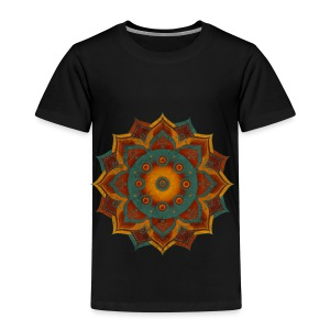 Handpan - Hang Drum Mandala teal red - Kinder Premium T-Shirt