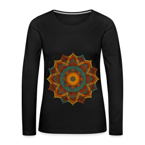Handpan - Hang Drum Mandala teal red - Frauen Premium Langarmshirt