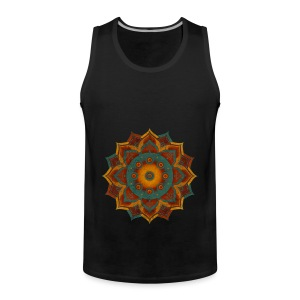 Handpan - Hang Drum Mandala teal red - Männer Premium Tank Top