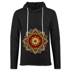 Handpan - Hang Drum Mandala natural - Leichtes Kapuzensweatshirt Unisex