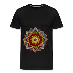 Handpan - Hang Drum Mandala natural - Männer Premium T-Shirt