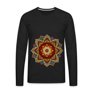 Handpan - Hang Drum Mandala natural - Männer Premium Langarmshirt