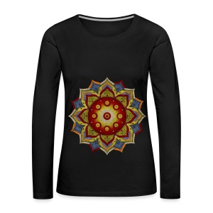 Handpan - Hang Drum Mandala natural - Frauen Premium Langarmshirt