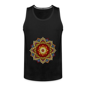 Handpan - Hang Drum Mandala natural - Männer Premium Tank Top