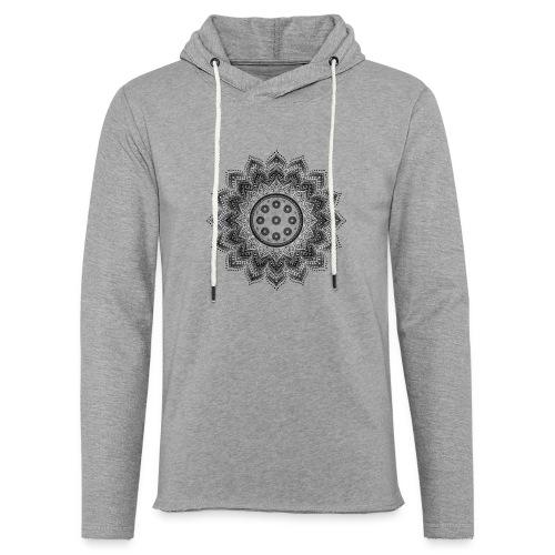 Handpan - Hang Drum Mandala gray - Leichtes Kapuzensweatshirt Unisex