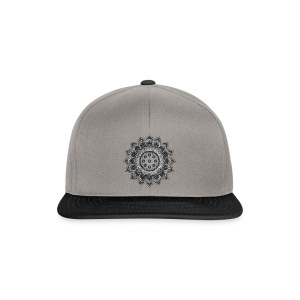 Handpan - Hang Drum Mandala gray - Snapback Cap