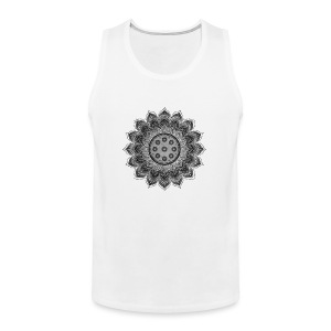 Handpan - Hang Drum Mandala gray - Männer Premium Tank Top