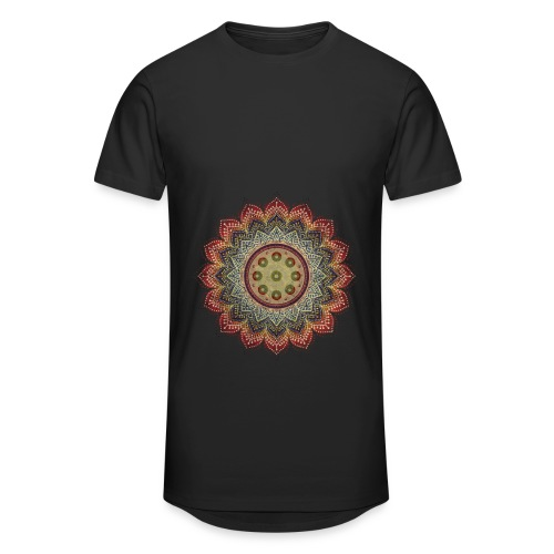 Handpan - Hang Drum Mandala earth colors - Männer Urban Longshirt