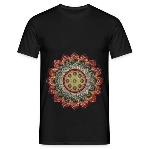 Handpan - Hang Drum Mandala earth colors - Männer T-Shirt