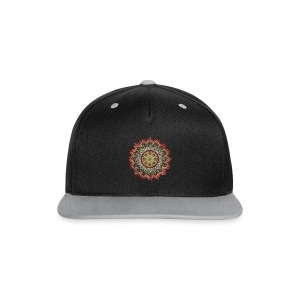 Handpan - Hang Drum Mandala earth colors - Kontrast Snapback Cap