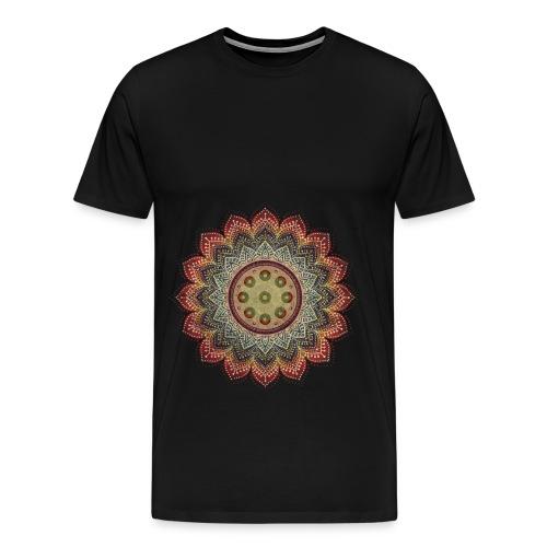 Handpan - Hang Drum Mandala earth colors - Männer Premium T-Shirt