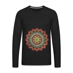 Handpan - Hang Drum Mandala earth colors - Männer Premium Langarmshirt