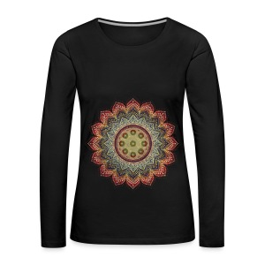 Handpan - Hang Drum Mandala earth colors - Frauen Premium Langarmshirt